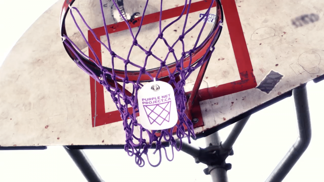 Purple Basketball Nets Make Heartfelt Point For Big Brothers of Greater Vancouver