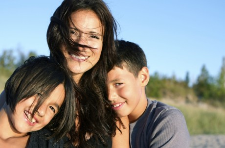 Mom and children benefit from Big Brothers of Greater Vancouver.