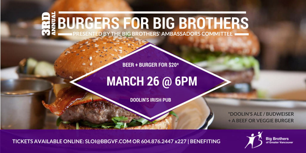 Burgers for Big Brothers
