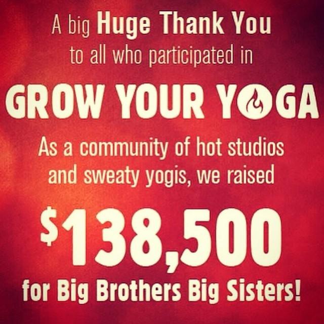 Moksha Yoga Raises $138,500 for Big Brothers Big Sisters