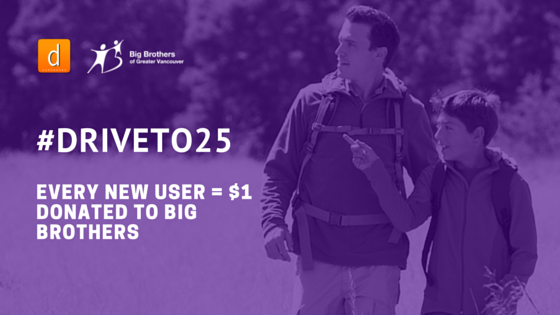 Darelle to Donate $1 for Every New User: #DriveTo25