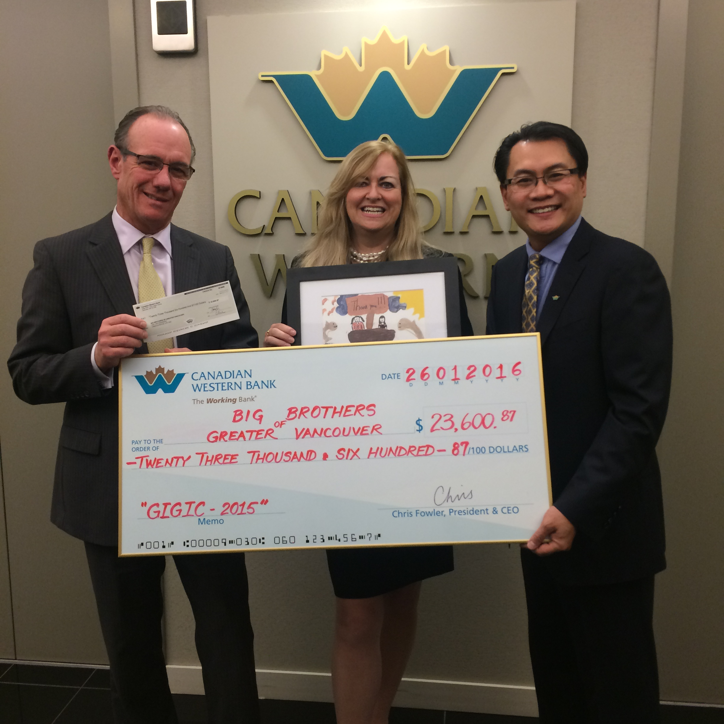 Canadian Western Bank donates more than $421,000 to support local mentoring programs