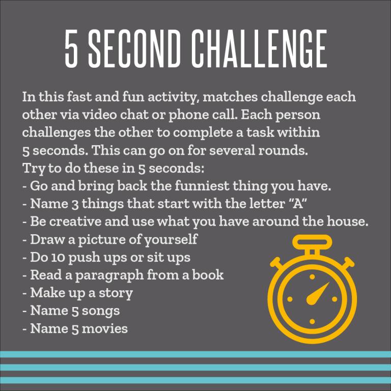 5 second challenge